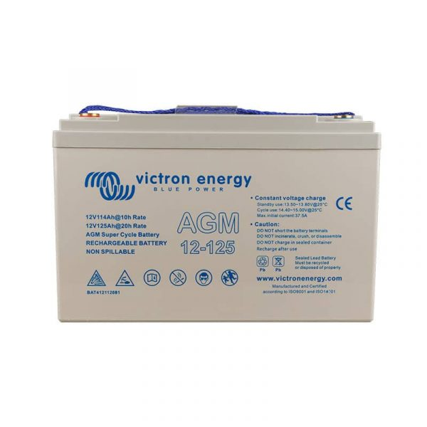 12V/125Ah AGM Super Cycle Batt. (M8)