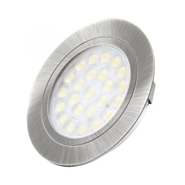 Design Light - OVAL recessed LED luminaire 2W - Aluminium