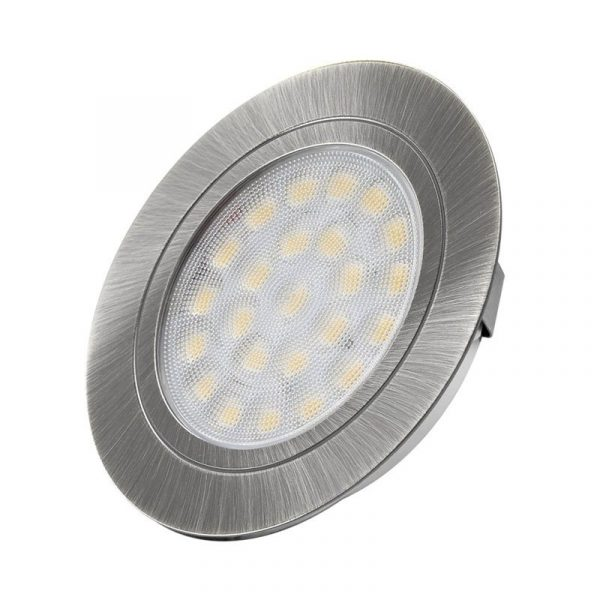 Design Light - OVAL recessed LED luminaire 2W - Brushed Steel