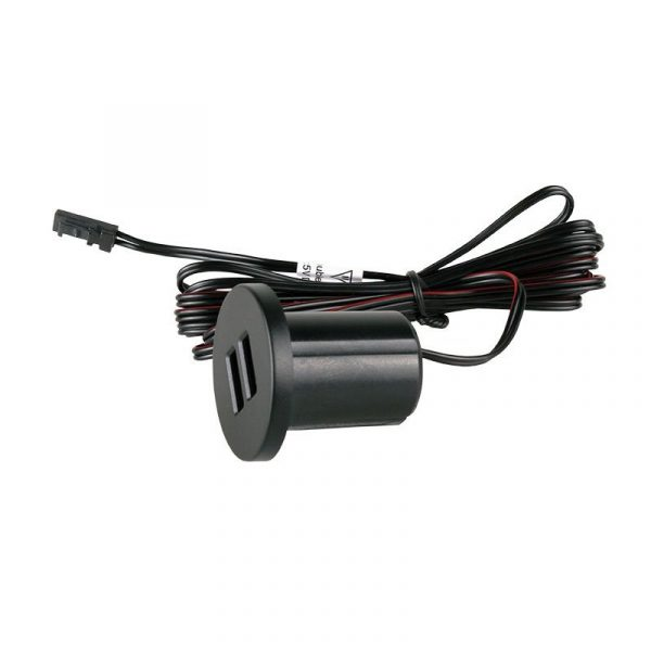 Design Light - USB 12V DC charger recessed into the furniture board - GNI-USB-CZ-02